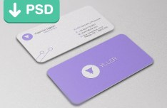 Purple Business Card PSD Mockup Template