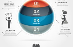 Vector Technology Infographic Step Options Elements 03
