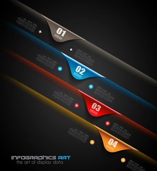 Vector Technology Infographic Step Options Elements 05