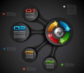 Vector Technology Infographic Step Options Elements 07