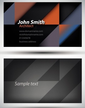 Stylish Abstract Shapes Business Card Template