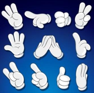 Vector Hands and Gestures Design Elements 02