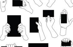 Vector Hands and Gestures Design Elements 04