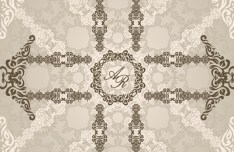 Seamless Vintage Floral Pattern Background Vector 02