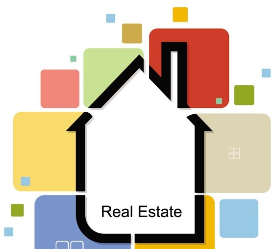 Abstract Real Estate Vector Illustration 04