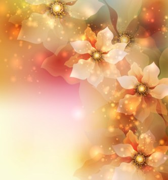 Elegant Card Background With Sparkling Flowers 05