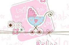 Lovely Baby Shower Elements Vector Illustration 01