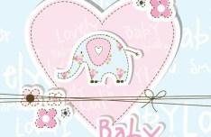 Lovely Baby Shower Elements Vector Illustration 02