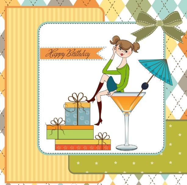 Vector Happy Birthday Card Illustration