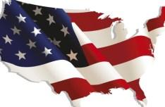 Vintage American Flag Design Vector 02