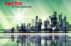 Abstract Modern City Background Vector 01