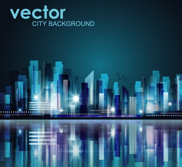 Free Abstract Modern City Background Vector 04 - TitanUI