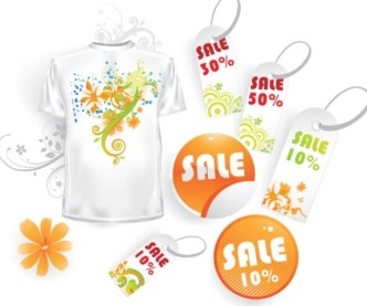 Clean Vector Labels and Price Tags For Summer Promotion