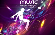 Fashion and Colorful Vector Music Background 01