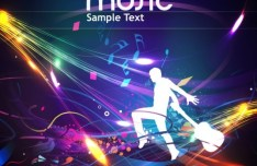 Fashion and Colorful Vector Music Background 04
