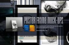 Poster Frame Mockups (Psd & Vector)