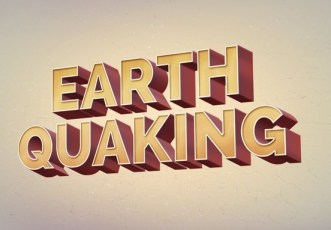 Earth Quaking Text Effect PSD