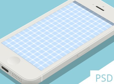 Grid iPhone 5 PSD Mockup