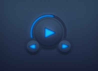 Rounded Audio Player Interface PSD