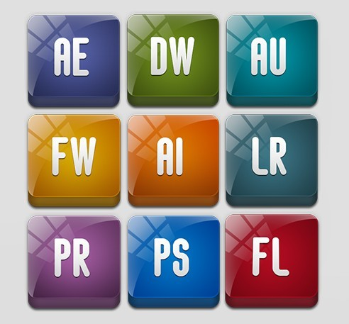 Sleek Adobe Product Icons