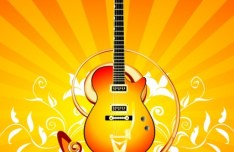 Fashion Music And Guitar Background 05