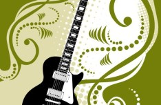 Fashion Music And Guitar Background 08