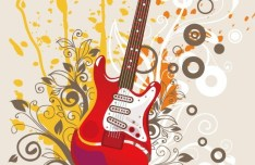 Fashion Music And Guitar Background 09