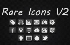 Rare White Web Icons with Dark Noise Background
