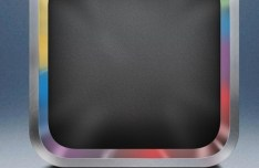 Sleek Blank iOS App Icon with Metal Border PSD Template