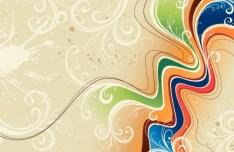 Vintage Floral Swirls Background Vector 01
