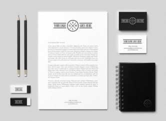 Dark Corporate Branding & Identity PSD Mockup