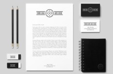 Dark Corporate Branding & Identity PSD Mockup