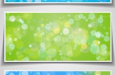 Set Of Vector Blurred Light Spots Banners
