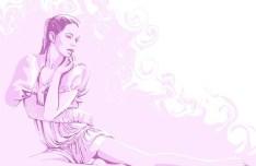 Vector Fashion Female Illustration 09