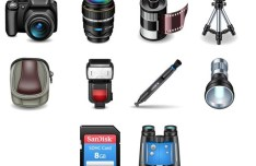 3D Photography Icon Set