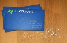 Clean Blue Business Card Design PSD