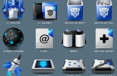 Sleek Transformer Icon Set