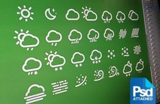 28+ White Weather Icons PSD