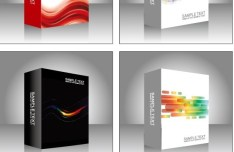 Set Of Vector 3D Package Box Designs