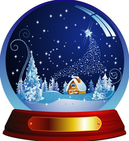 Christmas Crystal Ball Vector Illustration 01
