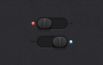 Dark Horizontal Sliders & Switches