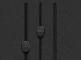 Dark Vertical Sliders & Switches