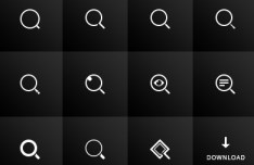 10+ Search Icons PSD