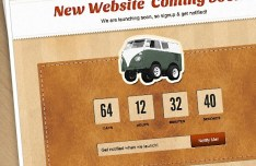Coming Soon Web Page PSD Template