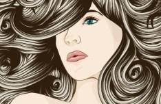 Creative Woman Hair Design Vector Illustration 01