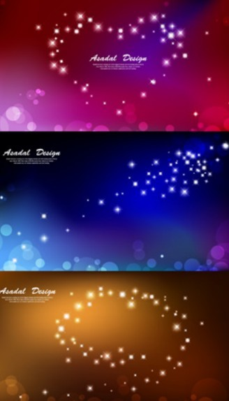 Set Of Fantastic Stars and Halos Background