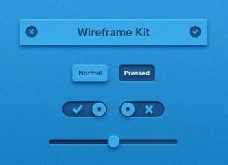 Tiny Blue Tiny Wireframe UI Kit PSD