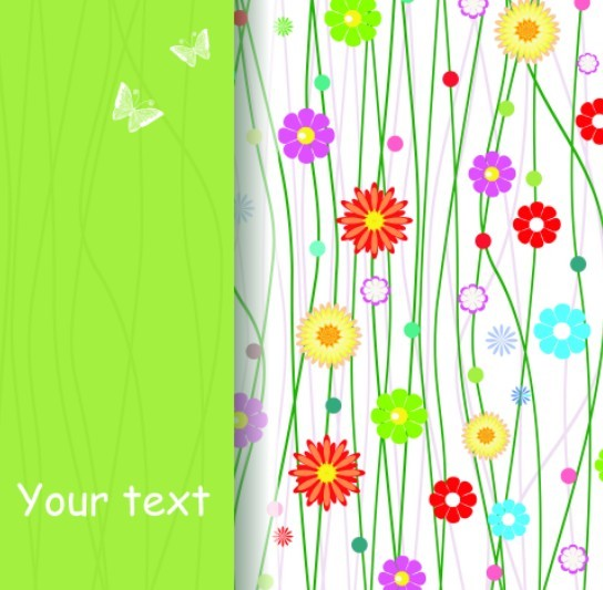 Free Colorful Spring Flowers And Butterflies Background