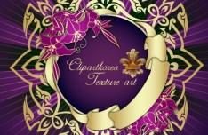 Vector Golden Floral Decorative Pattern 01