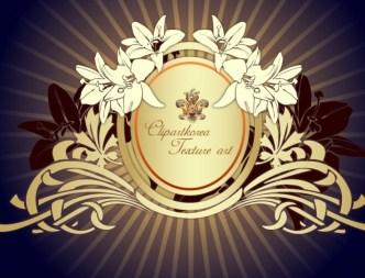 Vector Golden Floral Decorative Pattern 05